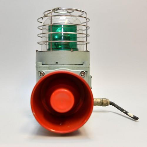 Green Siren Lamp Steel