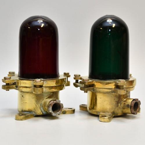 Signal light 2st red/green glass