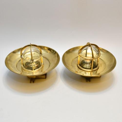Small Wiska brass Cap lamp 2st