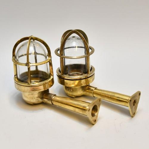 2st Brass Light 90 Deg (Long pipe) clear glass