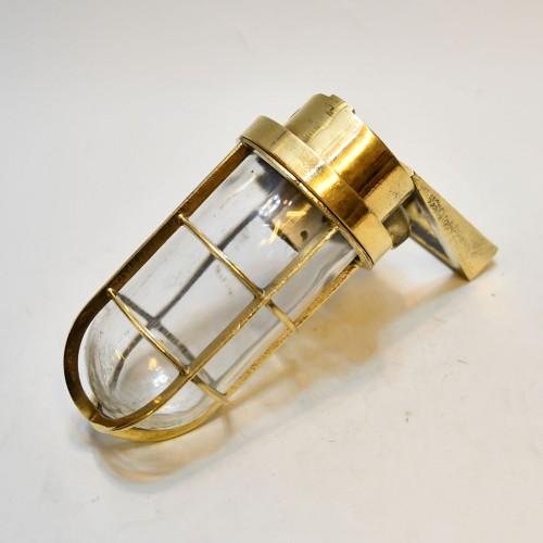 90 Deg Brass light Clear Glass