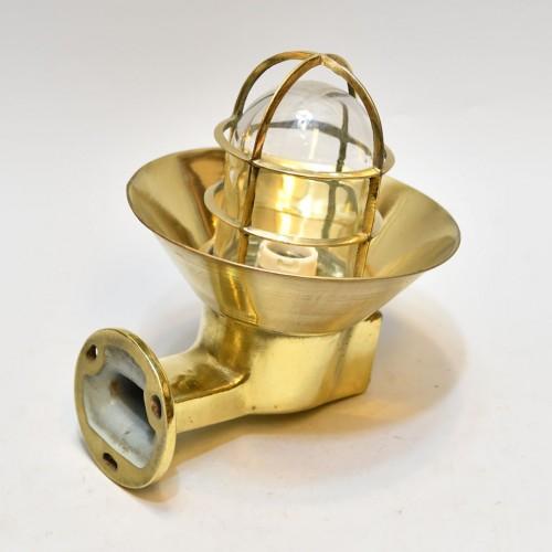 Nautical Passageway light - brass shade