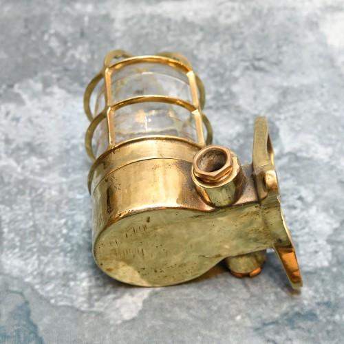 Antique Passageway Light in brass - 90 Degree
