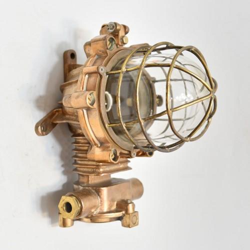 Authentic Cast Brass Nautical Post Light -  marine vintage