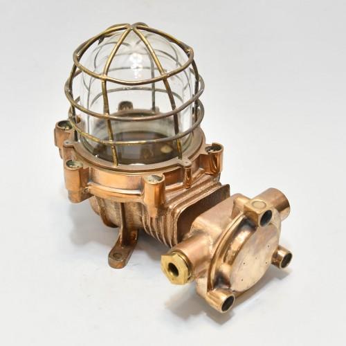 80 tals lampa, bronze, Explosionssäker - auktioner stockholm