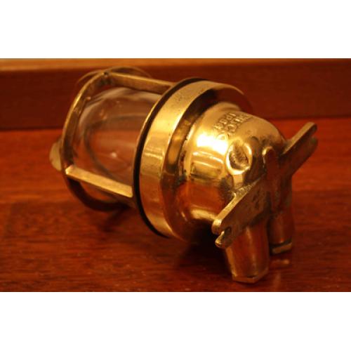 Vägglampa antik mässing - Wiska