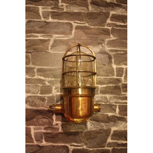 Vägglampa mässing - antika lampor