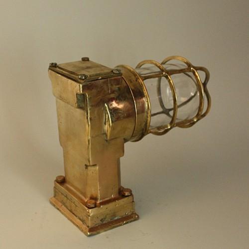 90-100 tals mässing marin lampa , gamla lampor - antik