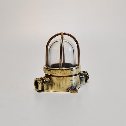 Nautica antik lampa i mässing - maritimt tema