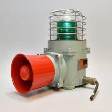 Grön sirene lampa stål