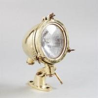Antik bordslampa mässing - Marin stil