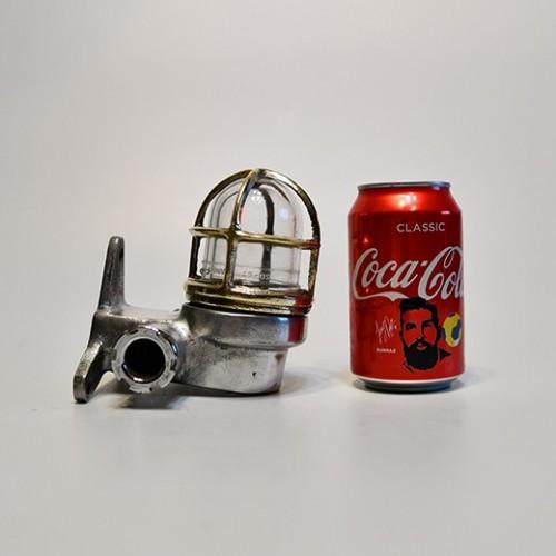 Small Aluminium Wall Light - Brass Cage