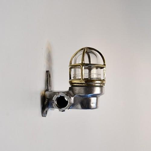 Mässing / Aluminium Vägglampa - art deco lampa