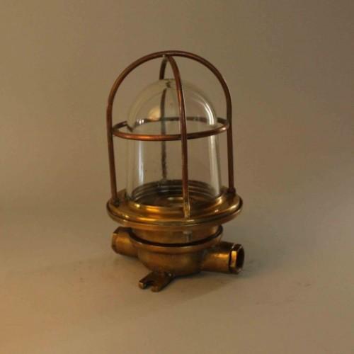 Vintage Brass Roundwire Wall Light
