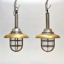 2st Hand Brass cap (10 inch)  + Alu lamp Hanging