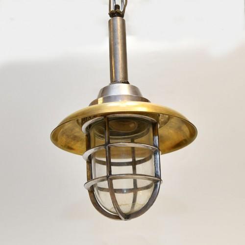 Hand Brass cap (10 inch)  + Alu lamp Hanging