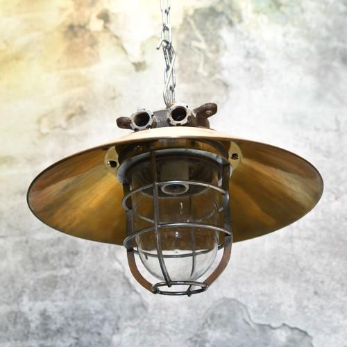 Hanging Brass Cap (15 inch) + upper side iron lamp