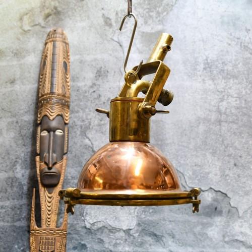 WISKA Copper and Brass Beehive Pendant Light