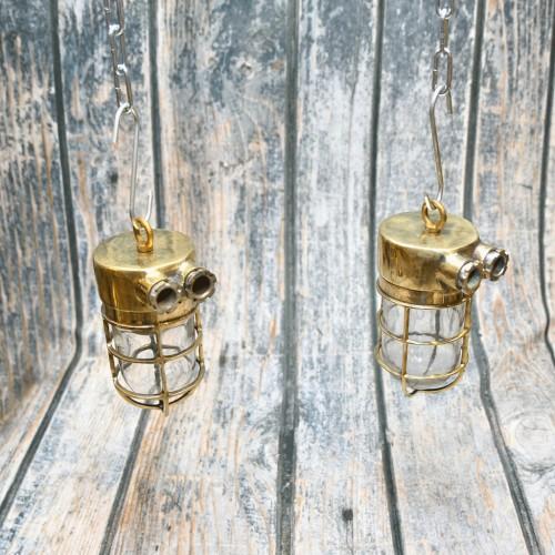 Brass lamp hanging