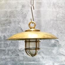 Brass Cap Light hanging