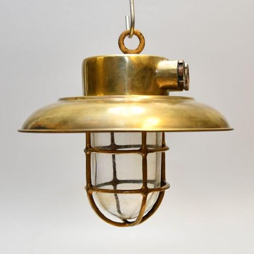 Ceiling Hanging Brass cap light