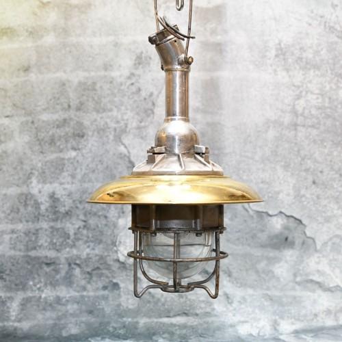 Hand Cap  Brass (13 inch) + Alu lamp Hanging (Polish)