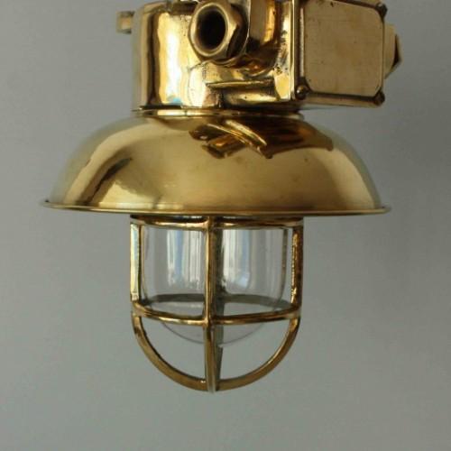 Mässing lampa tak med kupa - antika taklampor