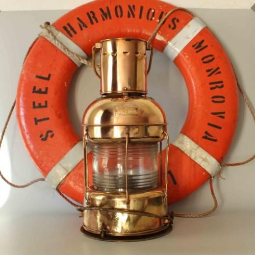 Antique Copper lantern Oil Lamp - Vintage Light