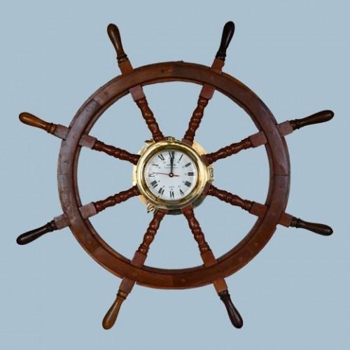 Stor Båtratt i trä med Klocka, gummibåt - båthus