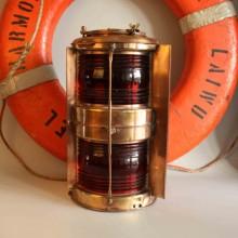 Port Side Cast Brass Navigation Light