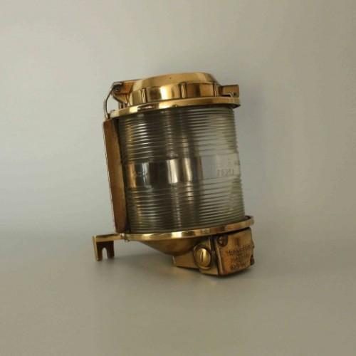 Marin utebelysning stolpe / bordslampa guld, i mässing