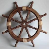 Vintage båtratt - marin stil